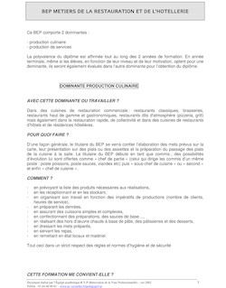 modele de cv restauration collective
