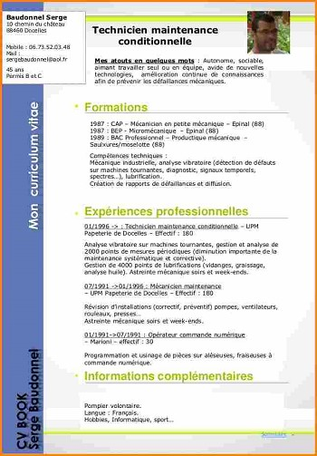 modele de cv technicien de maintenance informatique