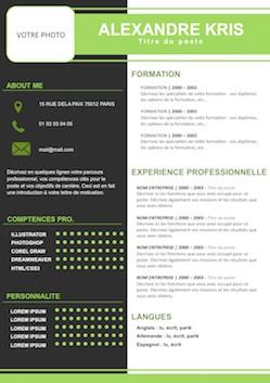 modele de cv une page