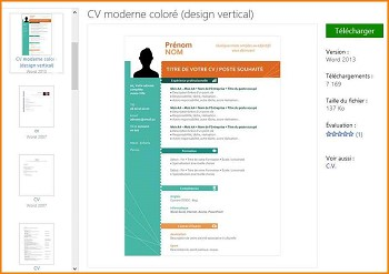 modele de cv word moderne